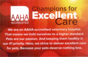 We are AAHA-accredited